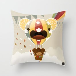 Chestnut Girl Balloon!!! Throw Pillow