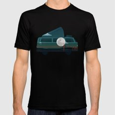 VW Camper Mens Fitted Tee Black LARGE