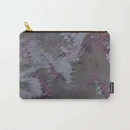 marbling - gray pink Carry-All Pouch