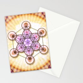 Metatron's Cube - Sun II.I Stationery Cards