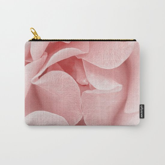 Pink flora Rose Bud- Roses and flowers Carry-All Pouch