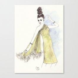 'Alice' Watercolor Fashion Illustration Canvas Print