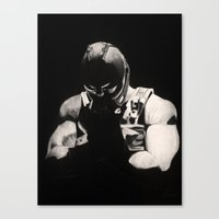 bane Canvas Prints featuring Bane by a vitruvian man