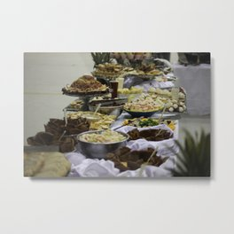 Catered Foods Metal Print