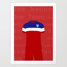 One Nation. One Team.  Art Print
