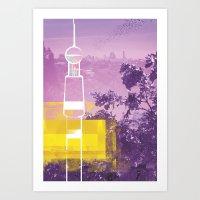 City Glitch / Brisbane 02 Art Print