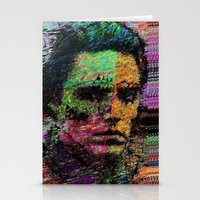 christopher walken Stationery Cards featuring Walken Around Town by brett66