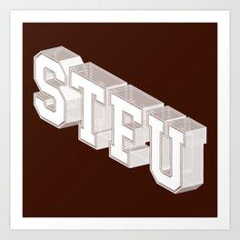 STFU Varsity Shirt Art Print