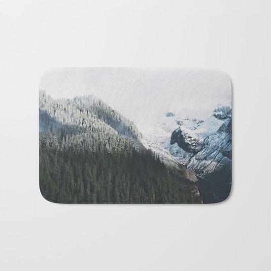 Mount Rainier Winter Valley Bath Mat