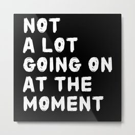 Not a Lot Going on at the Moment Metal Print