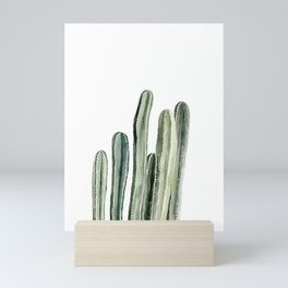 Tall Cacti Watercolor Painting Mini Art Print