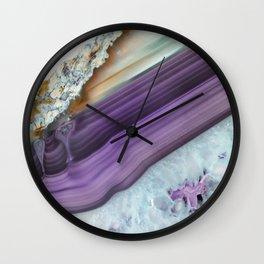 Purple Agate Slice Wall Clock