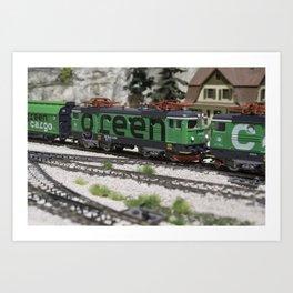 Green Cargo Art Print