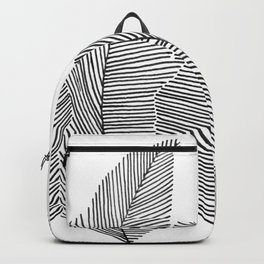 drawn feathers Backpack