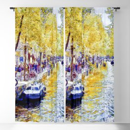 Amsterdam Canal Blackout Curtain