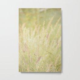 Autumn Botanical -- Fancy Grass Metal Print