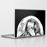 marx Laptop & iPad Skins featuring Facepalm Marx by Velozee