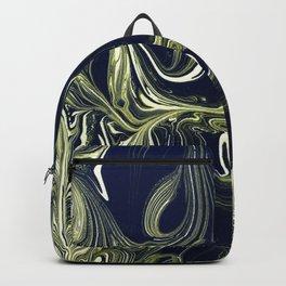 Blue Oil Gestalt Abstract IV Backpack
