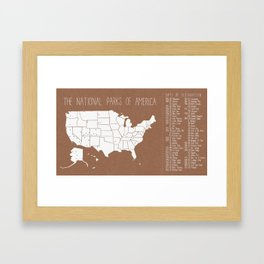 The Hand-Painted National Parks of America Framed Art Print