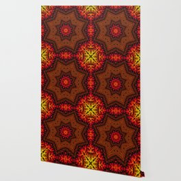 Fiery Fractal Mandala 2 Wallpaper