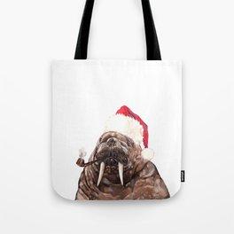 Christmas Daddy Walrus Tote Bag