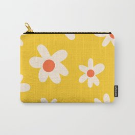 Happy Golden Daisies   Yellow Daisies   Summer Flowers Carry-All Pouch