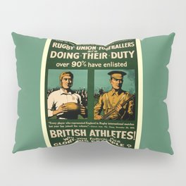 British rugby, football players call for duty Pillow Sham