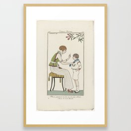 Journal des Dames et des Modes, Costumes Parisiens, 1913, No. 105  Blouse japonaise..., Anonymous, 1 Framed Art Print