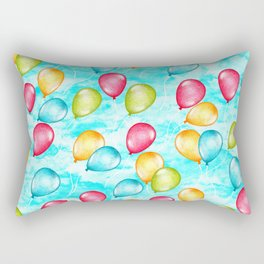 Looking Up - a sky full of optimistic balloons in rainbow color  Rectangular Pillow