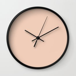 From The Crayon Box – Desert Sand Light Pastel Peach Solid Color Wall Clock