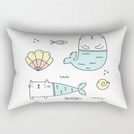 Ocean Merkitties Rectangular Pillow