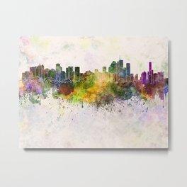 Brisbane skyline in watercolor background Metal Print