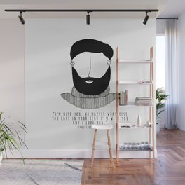 Amor literario: Ernest Hemingway Wall Mural