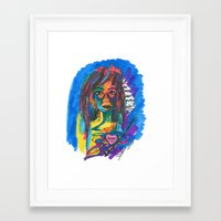 queer Framed Art Prints featuring Queer Face by Gersande