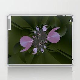 A plastic shiny bloom of a fractal plant Laptop & iPad Skin