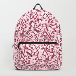 Candy cane flower pattern 6 Backpack