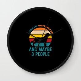 I Like My Funny Rottweiler Wall Clock