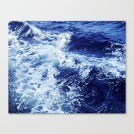 Ocean Waves Blue Water Painting Canvas Print