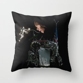 The Upside Down Castle Byers Throw Pillow