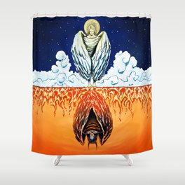 Duality: Angel/Devil (Color) II Shower Curtain