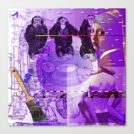 It's Just Not Gonna Happen < The NO Series (Purple) Canvas Print