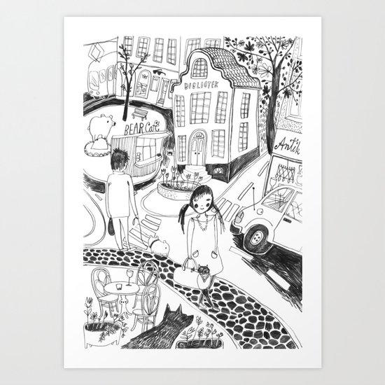 Locals Only –Helsinki Art Print