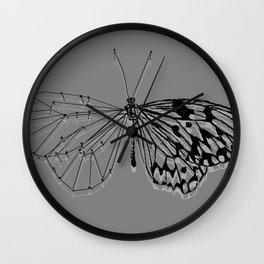 Butterfly under construction Wall Clock
