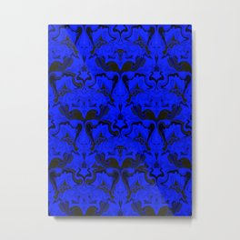 Creatures from the Blue Regal Abstract digital textured pattern Metal Print