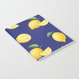 Lemons on Navy Notebook