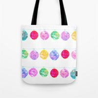 lanterns Tote Bags featuring Lanterns by Kara Hayley
