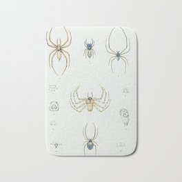 Eight Legs: Antique Spider Insect Print Bath Mat