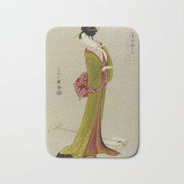 Itsutomi - Vintage Japanese Woodblock Bath Mat