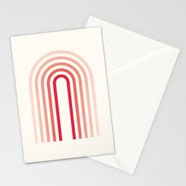 Mid century modern Rainbow Stationery Cards