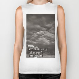 Western Hills- Black and White Biker Tank